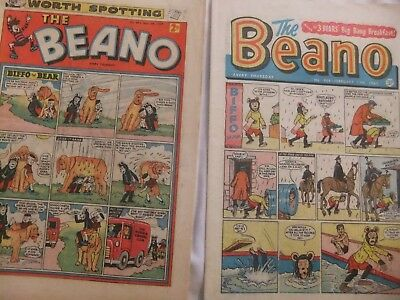 2 The Beano Comics,  1 From 1959, 1-1961. Good Used Comics. Nos. 894 + 969.