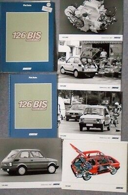 Fiat 126 Bis Very Large Press Pack 1987 10 Photographs Excellent