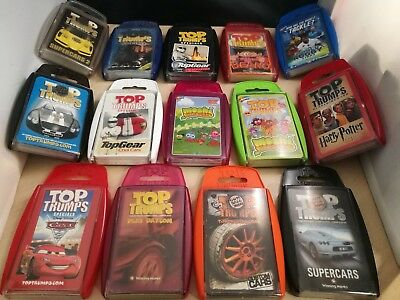 Job Lot 14 x Top Trumps - Lord Of The Rings, Harry Potter, TopGear, Beano, Rugby