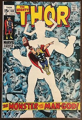 The Mighty Thor 169. Silver Age Galactus. Marvel Comics. 1969. FN Condition.