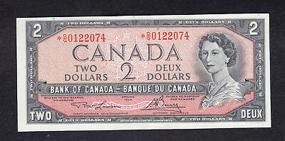 1954 Canada 2 Dollars Replacement Bank Note Lawson