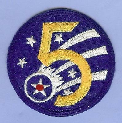 US Army 5th Air Force Patch USAAF WWII, Asian Made
