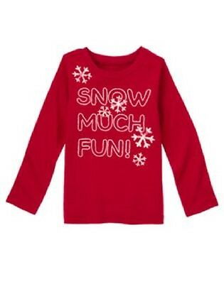 Gymboree Penguin Chalet Top Shirt 4 or 6 New Red Snowflake tee Girls Winter Twin