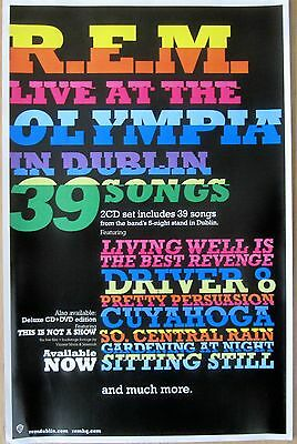 R.E.M. - LIVE AT THE OLYMPIA IN DUBLIN Promo Poster [2009] - NM