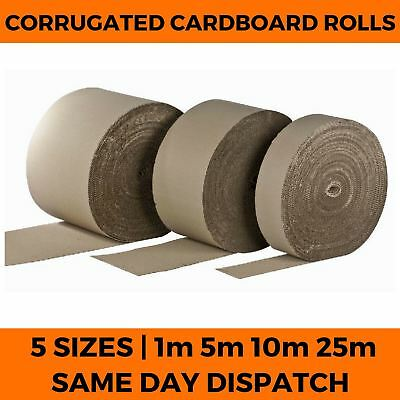 Corrugated Cardboard Rolls - Strong Packaging Packing Card Wrap - All Sizes