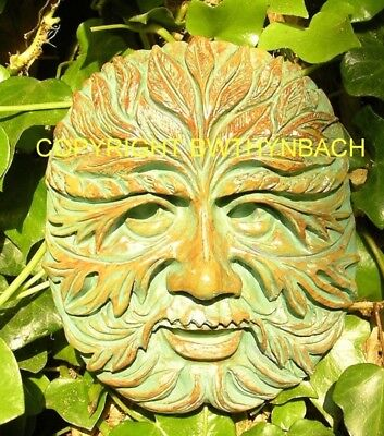 New Rubber Latex Mould Moulds Mold Pagan Wiccan Green Man Greenman Wall Plaque 6