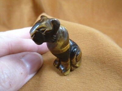(Y-CHE-563) Tiger's eye CHEETAH wild cat gemstone GEM carving BIG CATS statue