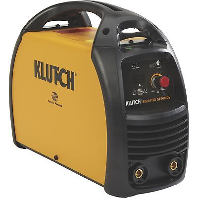 Klutch ST200iDV Dual Voltage Inverter-Powered Stick/TIG Welder 120V/230V,15-200A