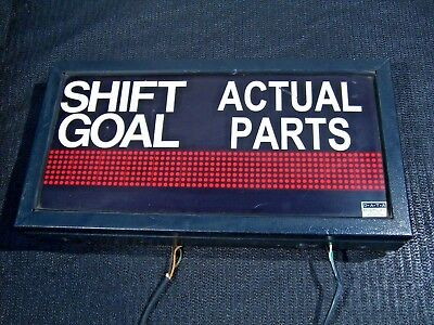 Electronic Message Centres Display Board for Shift Goals / Actual