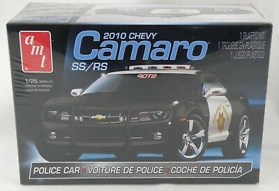 1:25 Scale 2010 Chevy Camaro SS/RS Police Car Plastic Model Kit - AMT #817L/12