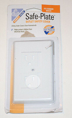 Mommys Helper Safe Plate Electrical Outlet Covers Standard, White, Open Package