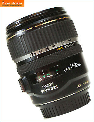Canon EF-S IS 17-85mm F4 -5.6 Image Stabilizer Manual Focus Zoom Lens Free UK PP