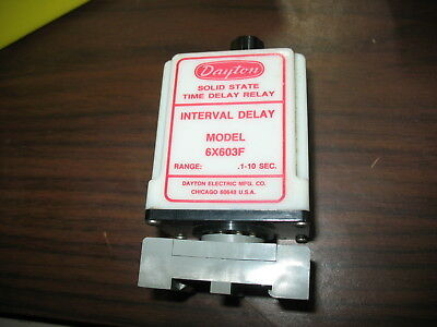 Dayton 6X603F 120V Solid State Timer with Base (.10 to 10 Seconds)