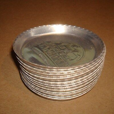 12 Vintage Stanhome Stanley Home Product Aluminum Ashtrays Coasters