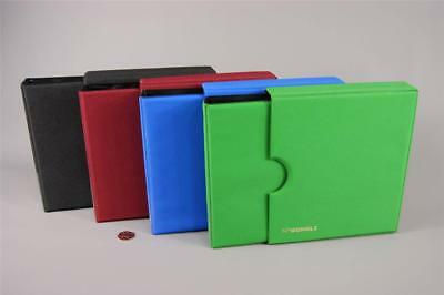 Coin Album Schulz 200 Coins Folder Binder Book Collection Holder 200E Black