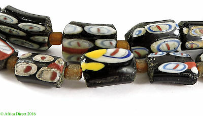 Ancient Roman Glass Fragment Beads Black Afghanistan