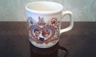 Prince Charles And Lady Diana Commemorative Royal Wedding Marriage 1981 Vintage