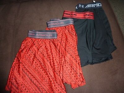 Under Armour LOT OF 4  Youth Boys Boxerjock Underwear Size Youth X-LARGE