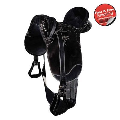 Xtra Wide Gullet- Black-Synthetic stock saddle