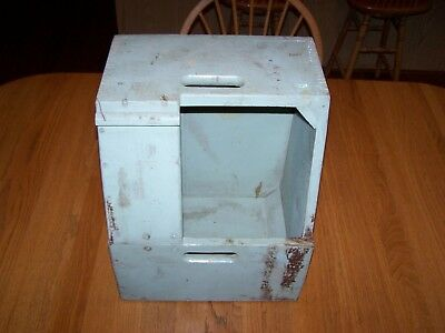 "Bell System ""b"" Wood Lineman / Repairman  Work Box / Step Stool / Seat In Vguc"