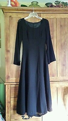 Women's style accents performance apparel size 4 black dance dress costume