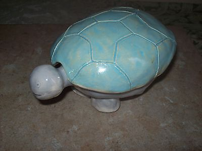 Handmade Carved Stone Ceramic Turtle Trinket Box