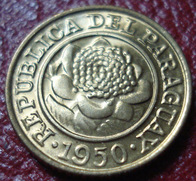1950-Hf Paraguay 1 Centimo In Uncirculated Condition