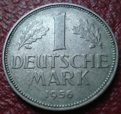 1956-D Germany 1 Mark In Vf Condition