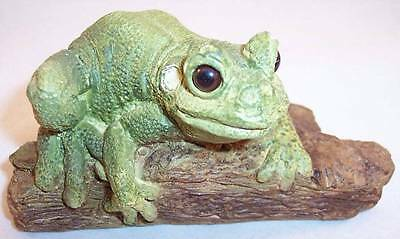 Stone Critters Frog on Tree Resin Figurine, United Design Corp., SC-293