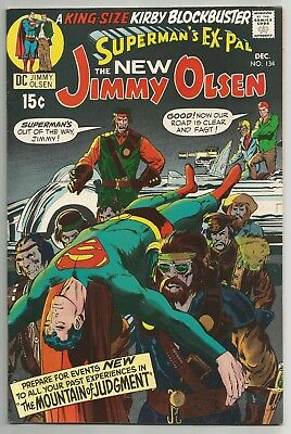 Jimmy Olsen No. 134 Dec. 1970 Jack Kirby Art & Story Neal Adams Cover Dc  Vf