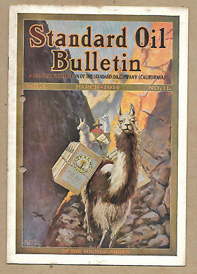 Standard Oil Bulletin March 1914 Vol 1 No 11 LLamas in the Higher Andes Cover
