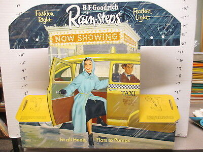 BF GOODRICH shoe store display sign 1950s rain boots yellow taxi Theater marquee
