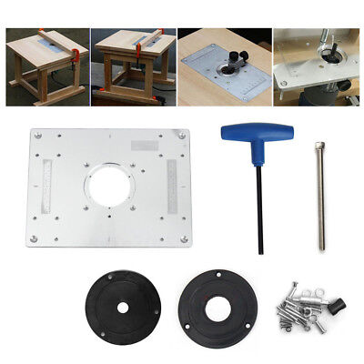 Aluminum plunge router table insert plate w ring for diy aluminum plunge router table insert plate w ring for diy woodworking work bench greentooth Gallery