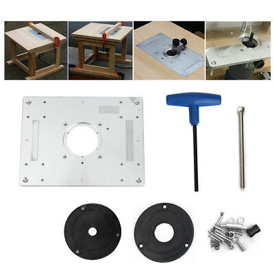 Aluminum plunge router table insert plate w ring for diy aluminum plunge router table insert plate w ring for diy woodworking work bench greentooth Image collections