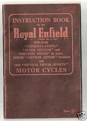 Instruction Book & Parts Lists, Royal Enfield Motor Cycles 1958-1960