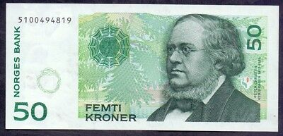 50 Kroner From Norway 1812-1885 UNC A1