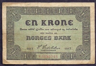 1 Krone From Norway 1917 A1