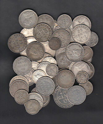 1865-1947 CANADA NEWFOUNDLAND 5 TO 50 CENTS SILVER COIN LOT OF 10oz