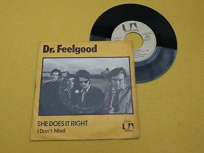 """DR. FEELGOOD  SPAIN (VG/VG+)  She does it right 1975 ARIOLA single 7"""" ç"""