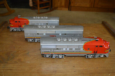 Postwar Lionel 2343 F7 Santa Fe War Bonnet Aba Set With Boxes & Inserts.