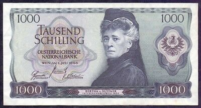 1000 Schilling From Austria 1966 A1