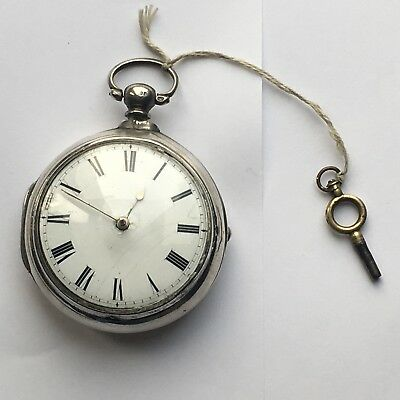 Early 19th Century Silver Pair Case Tompion Regulator Verge Fusee Pocket Watch