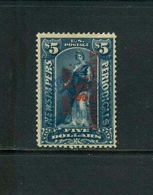 Scott#r160 $5 Dark Blue, Surcharge Reading Up. Scarce