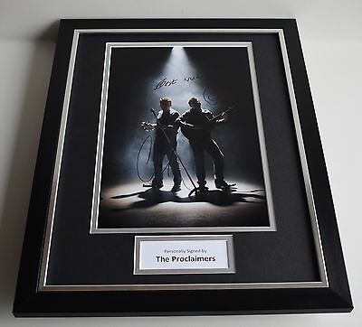 The Proclaimers SIGNED FRAMED Photo Autograph 16x12 display Music AFTAL COA