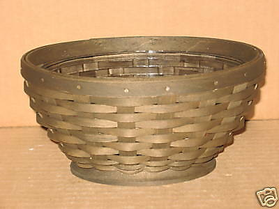 Longaberger Small Oval Bowl Basket Deep Stain with protector Complete MINT!