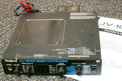 ♫ Roland JV 1010 64-Voice synth MIDI jv1010 synthesizer compact keyboard module!