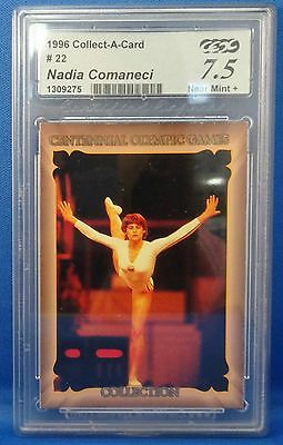 1996 Centennial Olympic Games Collection Nadia Comaneci Card Graded 7.5 NM+