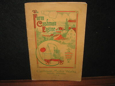Vintage 1914 CUSHMAN Farm Gas Engine Hit Miss Sales Brochure Catalog Early
