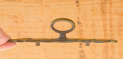 VTG Decorative Shapely Cabinet Brass Back Plate w Oval Loop Knob BPC 14311/1638