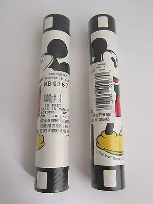 Vintage Style Mickey Mouse Wallpaper Border Walt Disney New Sealed 2 Rolls